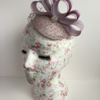Lilac & Berry Bow Fascinator