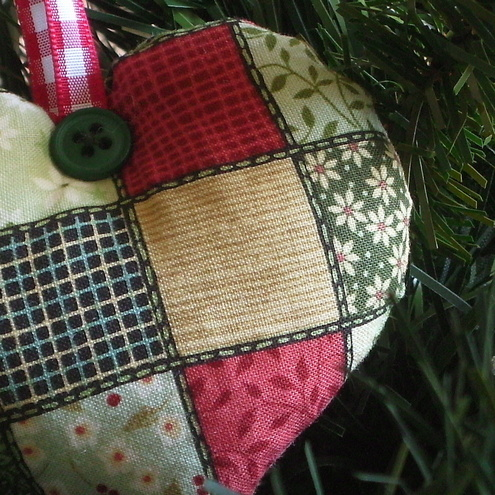 Scented Christmas Decorations Vintage Patchwork Heart
