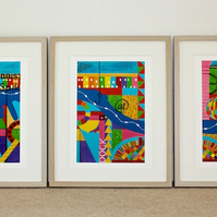 BRISTOL FASHION PRINTS-FRAMED TRIPTYCH