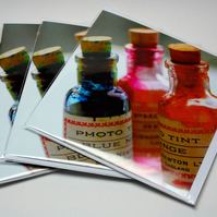 PHOTO TINT BOTTLES-BLANK GREETINGS CARD