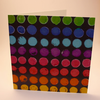 DOTTY CARDS-SINGLE BLANK GREETINGS CARD