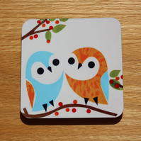 SINGLE OWL COASTER-WHAT A HOOT!