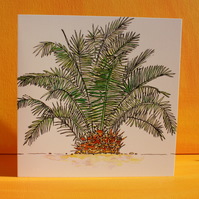 PALM TREE CARD BLANK FOR YOUR OWN MESSAGE