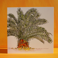 PEEPING PALM TREE CARD BLANK FOR YOUR OWN MESSAGE