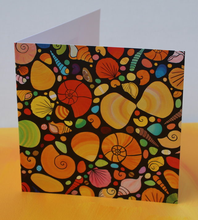 SHELLS -BLANK GREETINGS CARD