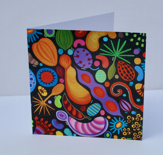 SEEDS III  -BLANK GREETINGS CARD