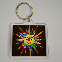 HERE COMES THE SUN KEYRING-POSTAGE FREE