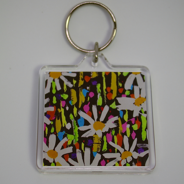 MOON DAISY KEY RING-POSTAGE FREE