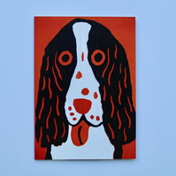 ORANGE SPANIEL GREETINGS CARD-SINGLE (BLANK)