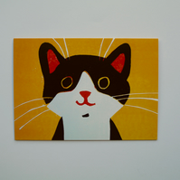 HAPPY CAT -BLANK GREETINGS CARD