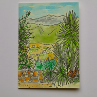 VIEW TO THE WHITE MOUNTAINS-BLANK GREETINGS CARD
