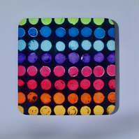 DOTTY COASTER-SINGLE-FREE POSTAGE
