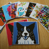 SPECIAL OFFER-FOUR BLANK GREETINGS CARDS-FREE P&P