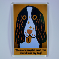 SPANIEL FRIDGE MAGNET-FREE POST