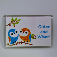 OWLS FRIDGE MAGNET-FREE P&P