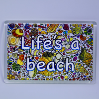 BEACH FRIDGE MAGNET-FREE P&P