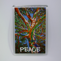 PEACE TREE FRIDGE MAGNET-POSTAGE FREE