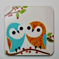 SINGLE OWL COASTER-FREE POSTAGE