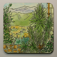 'VIEW TO THE WHITE MOUNTAINS' COASTER-FREE POSTAGE