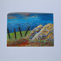 SEAVIEW GREETINGS CARD-'THE TURNING POINT' - BLANK FOR YOUR OWN MESSAGE