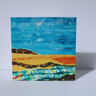 LOW TIDE-BLANK GREETINGS CARD-FREE POSTAGE