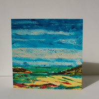 SHORELINE-BLANK GREETINGS CARD
