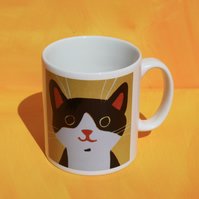 HAPPY CAT YELLOW MUG