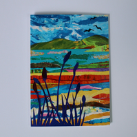 OVER THE ESTUARY-BLANK GREETINGS CARD
