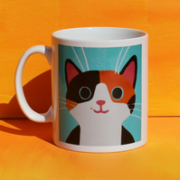 GINGER AND BLACK CAT MUG