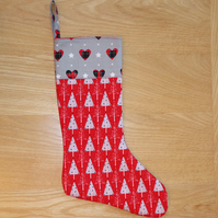 JOLLY HEARTS AND TREES CHRISTMAS STOCKING