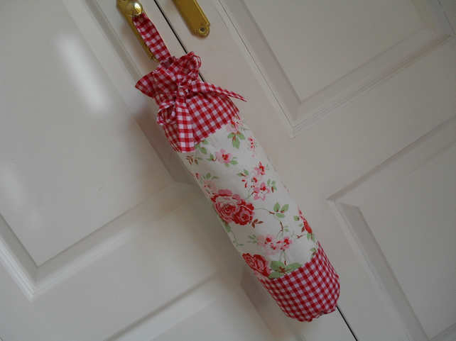 Cath Kidston Ikea Rosali & Gingham Fabric Carrier Bag Holder