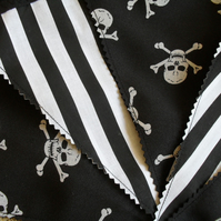 Black & White Pirate Party Bedroom Bunting