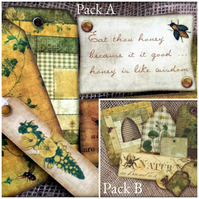 Primitive 'Wisdom of Bees' Set of Assorted Tags Toppers