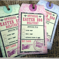 6 Easter Egg Delivery Gift Tags