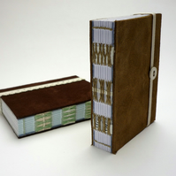 Small notebook - recycled leather with envelopes