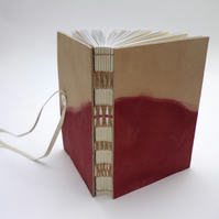 'Madder' dyed leather book
