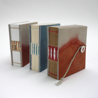 "Mini 'Madder and Indigo""  dyed leather notebooks"