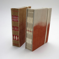 Small 'Madder' dyed leather book