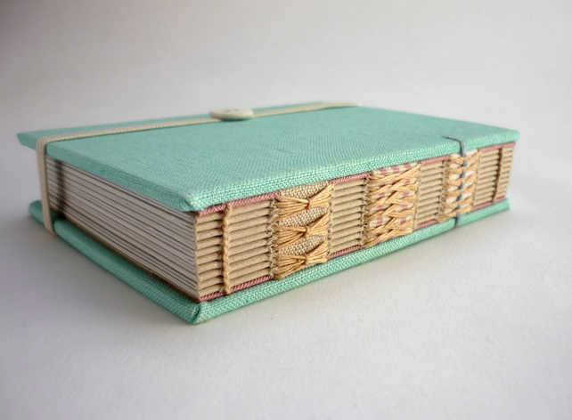 Small Turquoise linen book