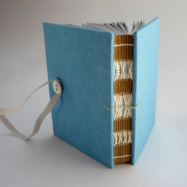 Small Blue Linen Book