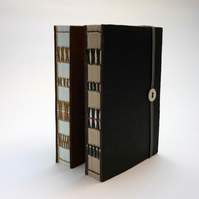 Recycled Leather or Suede Notebook