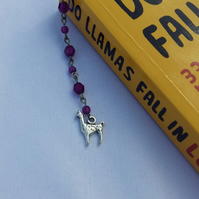 Beaded llama bookmark