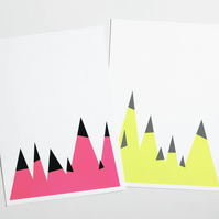 Modern Abstract Christmas Card Pack - Two designs included
