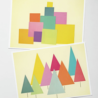 Mid Century Christmas Card Pack - Two designs included