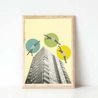 Architecture Print, Surreal Wall Art - High Flyers