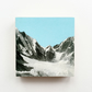 Mountain Wood Art Block, Blue Wood Print - Blue Skies