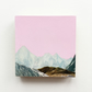 Mountain Wood Art Block, Blue Wood Print - Silent Hills