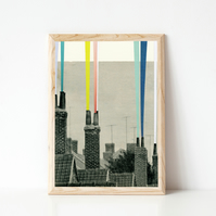 Abstract City Print - Smoke City