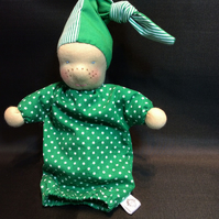 Waldorf style freckle faced doll, REDUCED