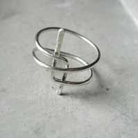 star . statement silver ring . contemporary geometric jewellery